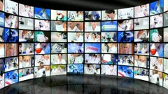 Montage 3D Tablet Images Multi Ethnic Medical Professionals  Stock Footage