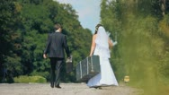 Marriage in love, wedding boy and girl, man and woman, lovers, couple, newlyweds Stock Footage