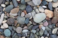 pebbles on the beach. batumi. georgia. - stock photo