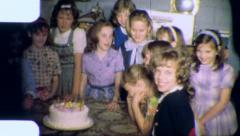 ALL MY GIRLFRIENDS KIDS Birthday Party 1960 Vintage Film Home Movie 5018 - stock footage