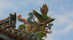 Baoan temple timelapse Stock Footage