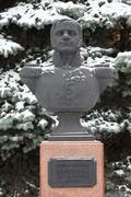 Bust (sculpture) of colonel neverovsky. smolensk. russia. Stock Photos