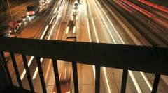 Assorted Pans of Highway Timelapse Laser Lights - stock footage