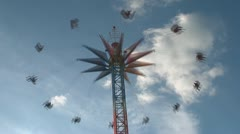 Big chained carousel Stock Footage