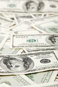 many us 100 dollars, business background - stock photo