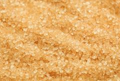 Cane sugar coarse-grained Stock Photos
