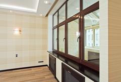 Tyhjä olohuone sisustus moderniin tyyliin Kuvituskuvat