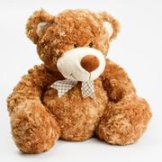 furry teddy bear - stock photo
