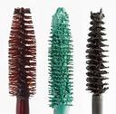 Stock Photo of color mascara brushes isolated on white macro