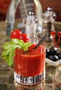 Cocktail bloody mary Stock Photos