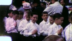 BOYS  CONFIRMATION 1st Communion 1960 (Vintage Old Film Home Movie) 5 - stock footage