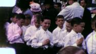 BOYS Catholic CONFIRMATION 1st Communion 1960s Vintage Film Home Movie 5 Stock Footage