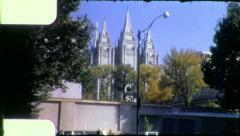 MORMON TEMPLE Salt Lake City Utah 1970s Vintage Retro Film Home Movie 5028 Stock Footage