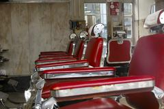 Vintage barber shop Stock Photos