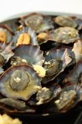 grilled limpets - stock photo