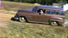 CLASSIC CAR Chrysler Station Wagon 1950s Vintage Film Home Movie 5035 Stock Footage