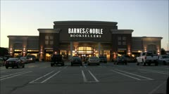 Barnes and Noble booksellers storefront Stock Footage
