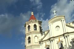 Old spanish cathedral time lapse Stock Footage