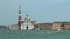 Isola San Giorgio, Venice Stock Footage