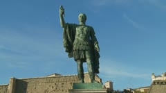 Julius Caesar statue (full statue) Stock Footage