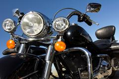 Motorcycle headlights Stock Photos
