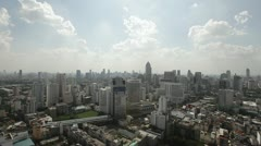 Sun is shining over Bangkok City Skyline - stock footage