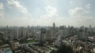 Stock Video Footage of Sun is shining over Bangkok City Skyline