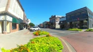 Stock Video Footage of Shawnee OK Downtown Main Street Shops 2