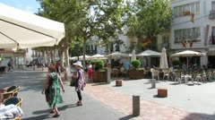 Nerja Town Square 4 Stock Footage