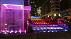 Cincinnati mutli-colored fountains - stock footage