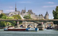 bridge pont des arts. - stock photo
