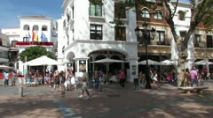 Nerja Town Square 6 Stock Footage