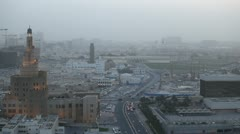 Spiral Mosque, Souq Waqif, Old Marketplace, Qatar, Doha Corniche, Amiri Diwan Stock Footage