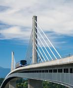 Sky train bridge Stock Photos