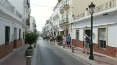 Streets of Nerja Spain 1 Stock Footage