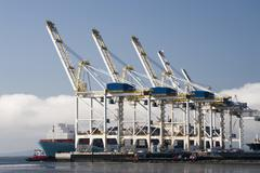 Stock Photo of Port cranes