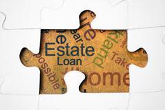 Estate and loan concept Stock Photos