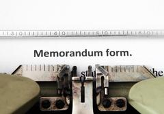 Memorandum form Stock Photos