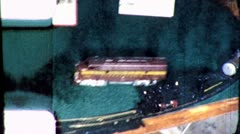 TOY TRAIN ON TRACK Family Train Set 1940s (Vintage Film 8mm Home Movie) 5057 Stock Footage