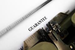 Guaranty  form Stock Photos