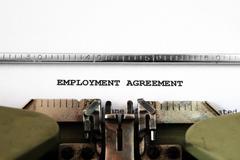 Employment agreement Stock Photos