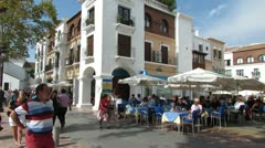 Town Square  Nerja Spain Stock Footage