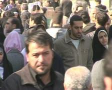 Iran  13  tehran market Stock Footage