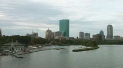 Back Bay Boston Stock Footage