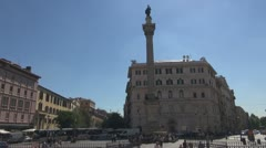 Urban Traffic, Italy Rome,Santa Maria Magiore Stock Footage