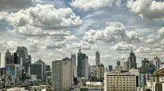 Clouds and Shadows over Bangkok City HDR - stock footage