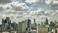 Stock Video Footage of Clouds and Shadows over Bangkok City HDR