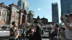 Tokyo Station exterior Japan - stock footage