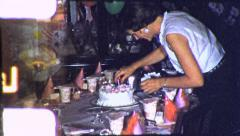 MOM GETS READY KIDS Birthday Party 1960 Vintage Film Home Movie 5075 - stock footage