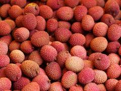 Red lychees Stock Photos